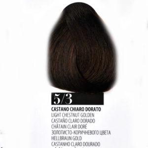 Tintura Capelli 53 Castano Chiaro Dorato Farmagan Hair Color Tubo 100ml