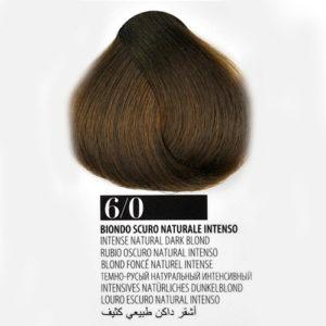 Tintura Capelli 60 Biondo Scuro Naturale Intenso Farmagan Hair Color Tubo 100ml