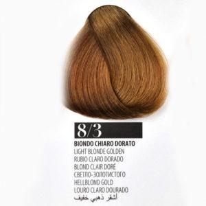 Tintura Capelli 83 Biondo Chiaro Dorato Farmagan Hair Color No Ammoniaca Tubo 100ml