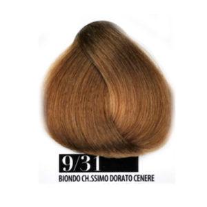 Tintura Capelli 931 Biondo Chiarissimo Dorato Cenere Farmagan Hair Color Tubo 100ml
